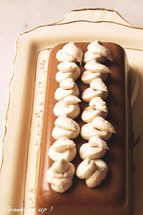 gâteau marron chantilly coco agar-agar
