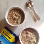 The simplest oat porridge