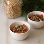 Greek recipes #4: black-eyed peas salad with dill