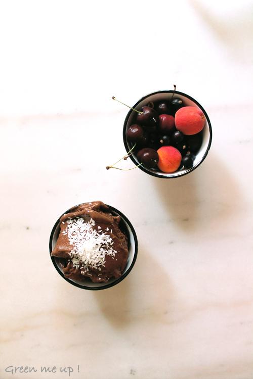sorbet glace légumes léger chocolat vegan végétalienne